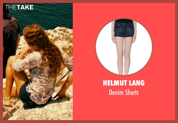 Helmut Lang blue shorts from Limitless seen with Unknown Actor (Unknown Character)