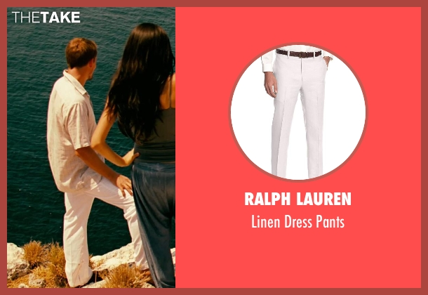 Ralph Lauren white pants from Limitless seen with Unknown Actor (Unknown Character)