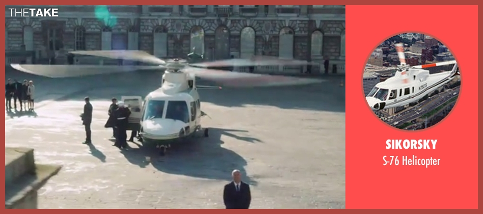 Sikorsky helicopter from London Has Fallen seen with Unknown Actor (Unknown Character)