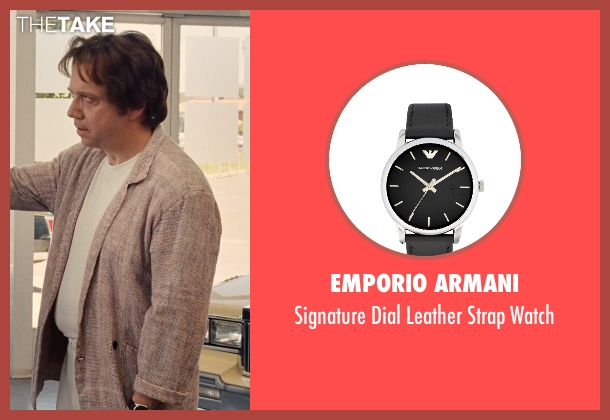 Emporio Armani black watch from Love & Mercy seen with Unknown Actor (Unknown Character)