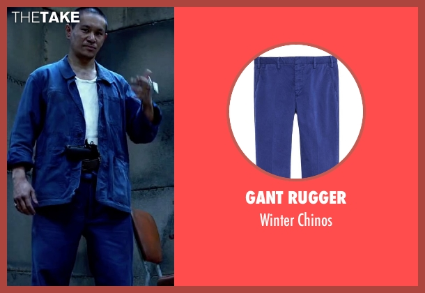 Gant Rugger blue chinos from Lucy seen with Unknown Actor (Unknown Character)