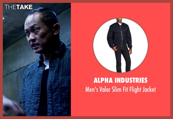 Alpha Industries blue jacket from Lucy seen with Unknown Actor (Unknown Character)