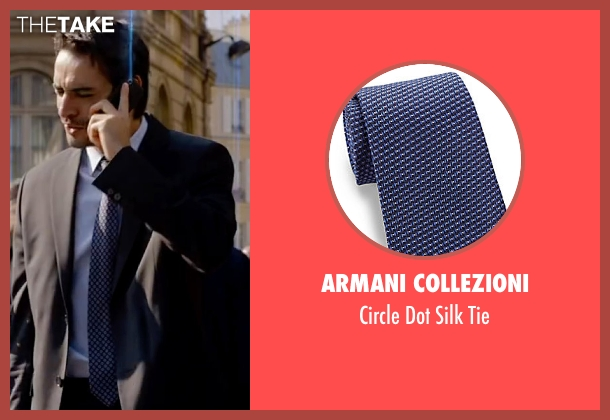 Armani Collezioni blue tie from Lucy seen with Unknown Actor (Unknown Character)