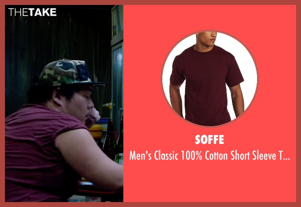 Soffe red t-shirt from Lucy seen with Unknown Actor (Unknown Character)