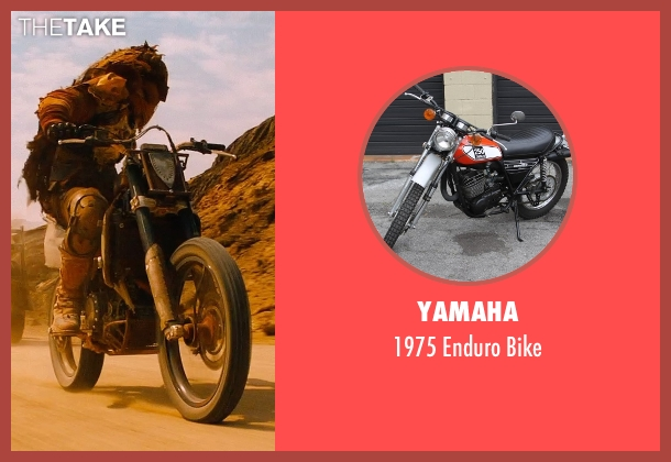 Yamaha bike from Mad Max: Fury Road seen with Unknown Actor (Unknown Character)