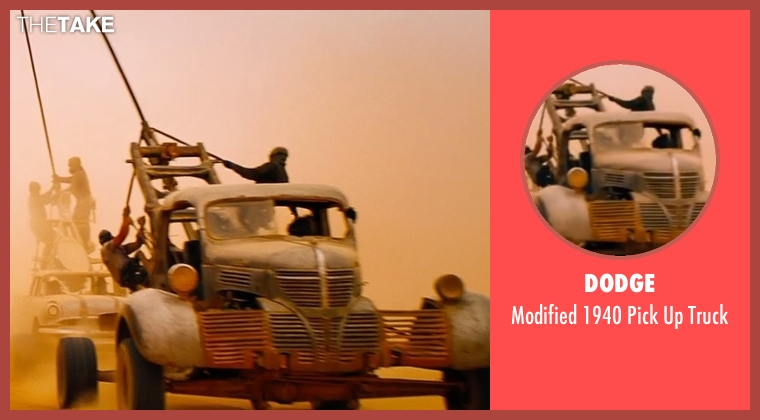 Dodge truck from Mad Max: Fury Road seen with Unknown Actor (Unknown Character)