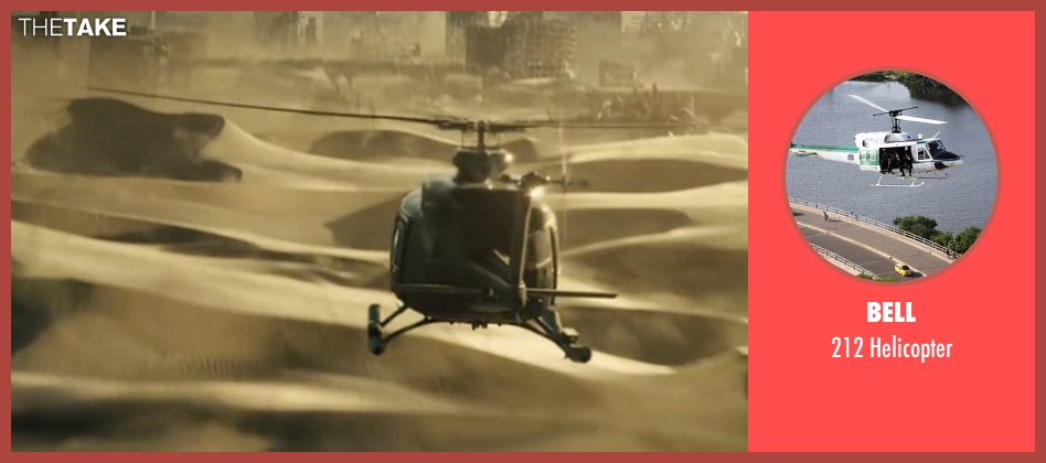 Bell helicopter from Maze Runner: The Scorch Trials seen with Unknown Actor (Unknown Character)