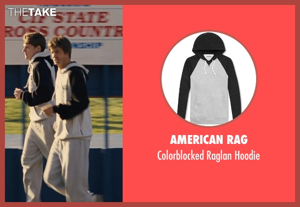 American Rag gray hoodie from McFarland, USA seen with Unknown Actor (Unknown Character)