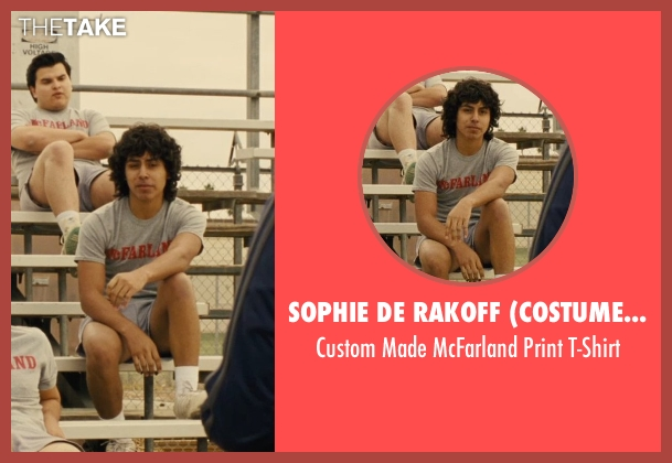 Sophie De Rakoff (Costume Designer) gray t-shirt from McFarland, USA seen with Unknown Actor (Unknown Character)