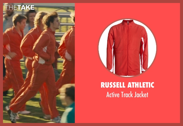 Russell Athletic red jacket from McFarland, USA seen with Unknown Actor (Unknown Character)