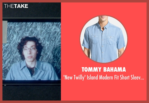 Tommy Bahama blue shirt from Me and Earl and the Dying Girl seen with Unknown Actor (Unknown Character)