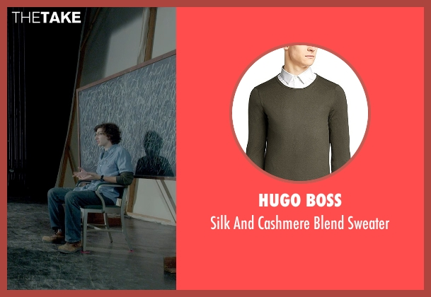 Hugo Boss green sweater from Me and Earl and the Dying Girl seen with Unknown Actor (Unknown Character)