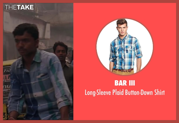 Bar III blue shirt from Million Dollar Arm seen with Unknown Actor (Unknown Character)
