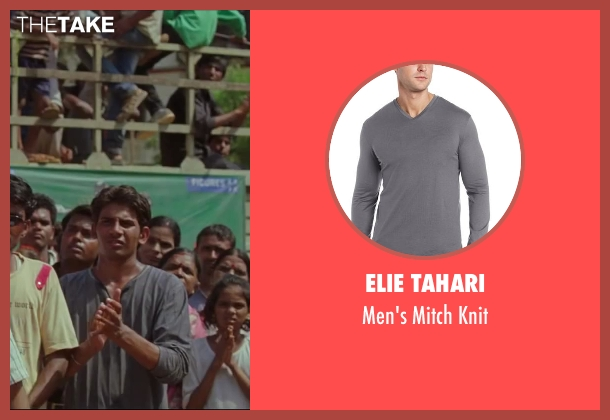 Elie Tahari gray knit from Million Dollar Arm seen with Unknown Actor (Unknown Character)