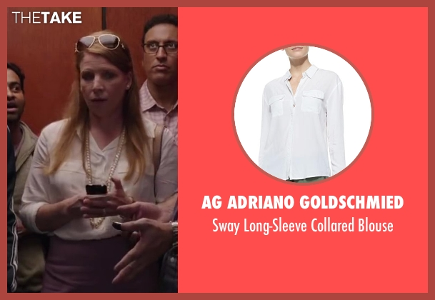 AG Adriano Goldschmied white blouse from Million Dollar Arm seen with Unknown Actor (Unknown Character)