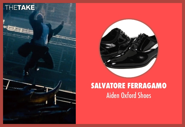 Salvatore Ferragamo black shoes from Mission: Impossible - Rogue Nation seen with Unknown Actor (Unknown Character)
