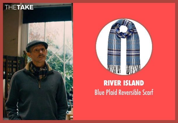 River Island blue scarf from Mortdecai seen with Unknown Actor (Unknown Character)