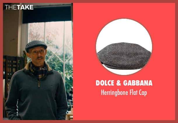 Dolce & Gabbana gray cap from Mortdecai seen with Unknown Actor (Unknown Character)