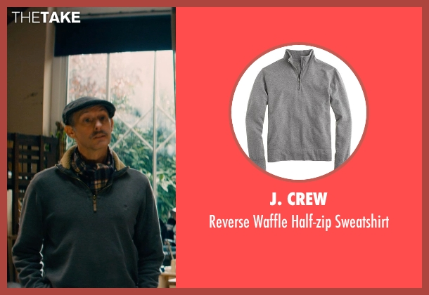 J. Crew gray sweatshirt from Mortdecai seen with Unknown Actor (Unknown Character)