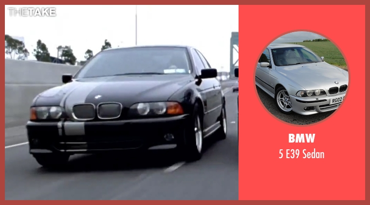 BMW sedan from Mr. & Mrs. Smith seen with Unknown Actor (Unknown Character)