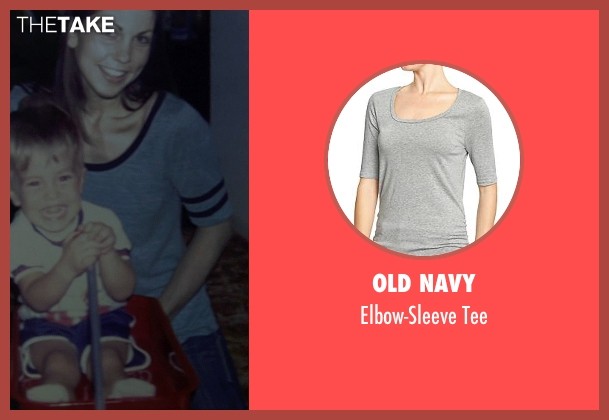 Old Navy gray tee from Need for Speed seen with Unknown Actor (Tobey's Mom)