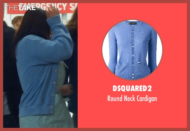 DSQUARED2 blue cardigan from Neighbors seen with Unknown Actor (Unknown Character)