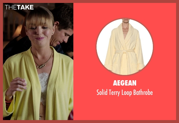 Aegean yellow bathrobe from Neighbors seen with Unknown Actor (Unknown Character)