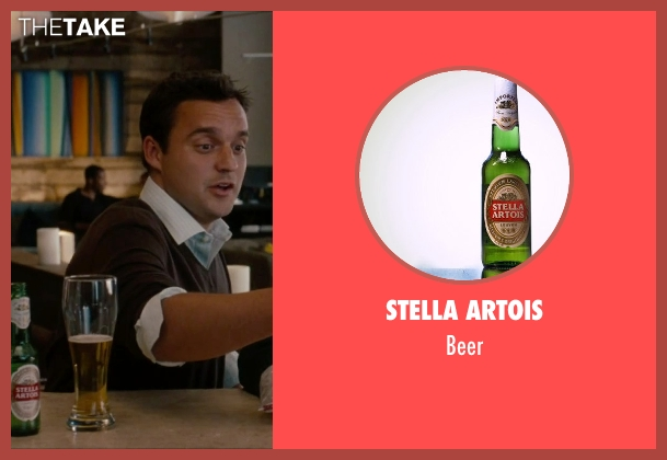 Stella Artois beer from No Strings Attached seen with Unknown Actor (Unknown Character)