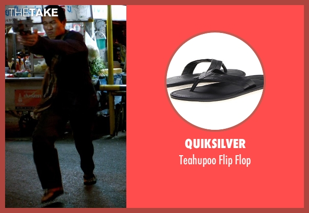 Quiksilver black flop from Only God Forgives seen with Unknown Actor (Unknown Character)