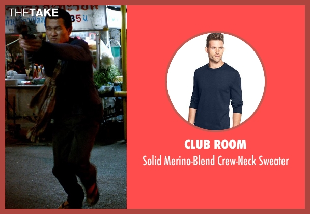 Club Room blue sweater from Only God Forgives seen with Unknown Actor (Unknown Character)