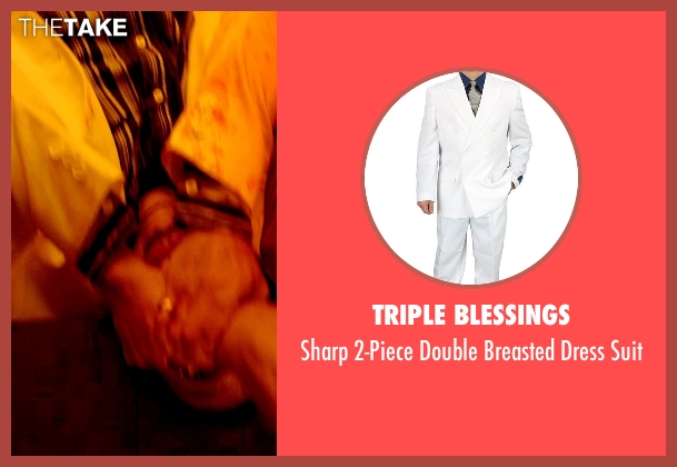 Triple Blessings white suit from Only God Forgives seen with Unknown Actor (Unknown Character)