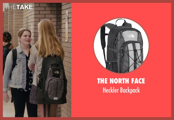 The North Face gray backpack from Paper Towns seen with Unknown Actor (Unknown Character)