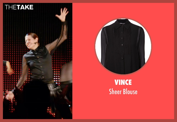 Vince black blouse from Pitch Perfect 2 seen with Unknown Actor (Unknown Character)