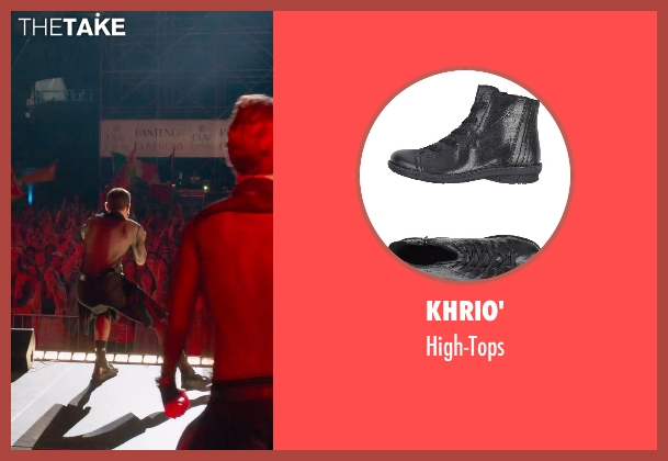 Khrio' black high-tops from Pitch Perfect 2 seen with Unknown Actor (Unknown Character)