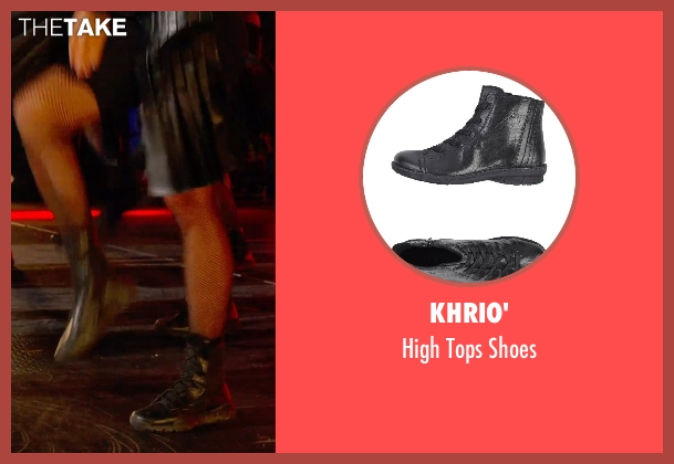 Khrio' black shoes from Pitch Perfect 2 seen with Unknown Actor (Unknown Character)