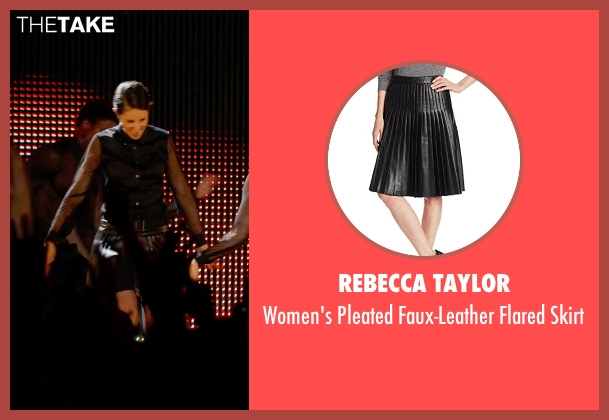 Rebecca Taylor black skirt from Pitch Perfect 2 seen with Unknown Actor (Unknown Character)