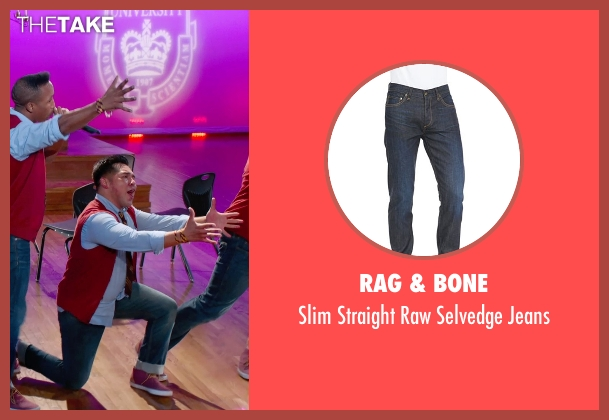 Rag & Bone blue jeans from Pitch Perfect 2 seen with Unknown Actor (Unknown Character)