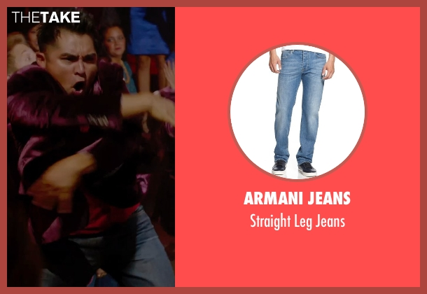 Armani Jeans blue jeans from Pitch Perfect 2 seen with Unknown Actor (Unknown Character)