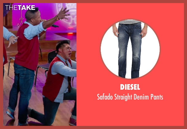 Diesel blue pants from Pitch Perfect 2 seen with Unknown Actor (Unknown Character)