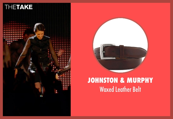 Johnston & Murphy brown belt from Pitch Perfect 2 seen with Unknown Actor (Unknown Character)