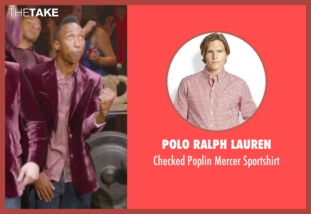 Polo Ralph Lauren red sportshirt from Pitch Perfect 2 seen with Unknown Actor (Unknown Character)