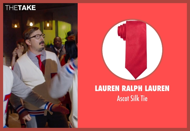 Lauren Ralph Lauren red tie from Pitch Perfect 2 seen with Unknown Actor (The Tonehangers)