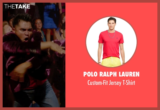 Polo Ralph Lauren red t-shirt from Pitch Perfect 2 seen with Unknown Actor (Unknown Character)
