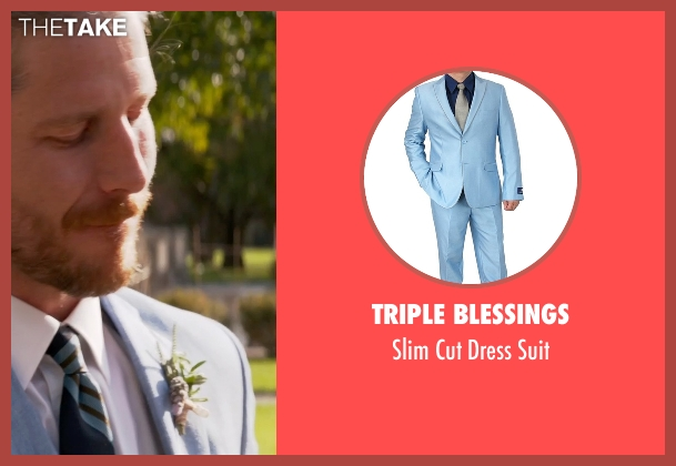 Triple Blessings blue suit from Ricki and the Flash seen with Unknown Actor (Unknown Character)