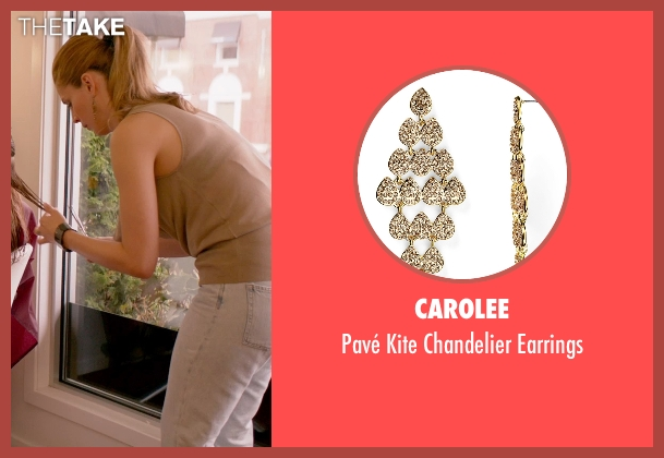 Carolee gold earrings from Ricki and the Flash seen with Unknown Actor (Unknown Character)