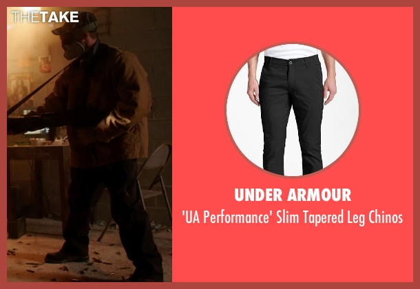 Under Armour black chinos from Sabotage seen with Unknown Actor (Unknown Character)