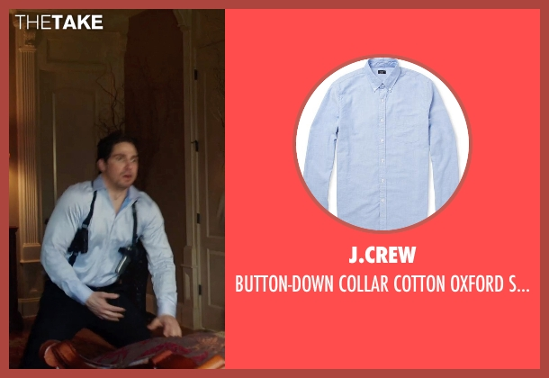 J.CREW blue shirt from Sabotage seen with Unknown Actor (Unknown Character)