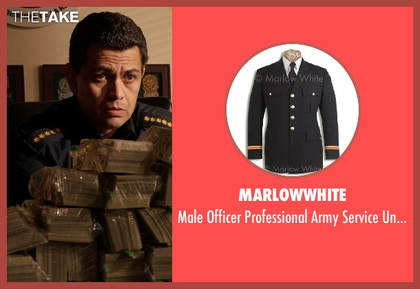 marlowwhite coat from Sabotage seen with Unknown Actor (Unknown Character)