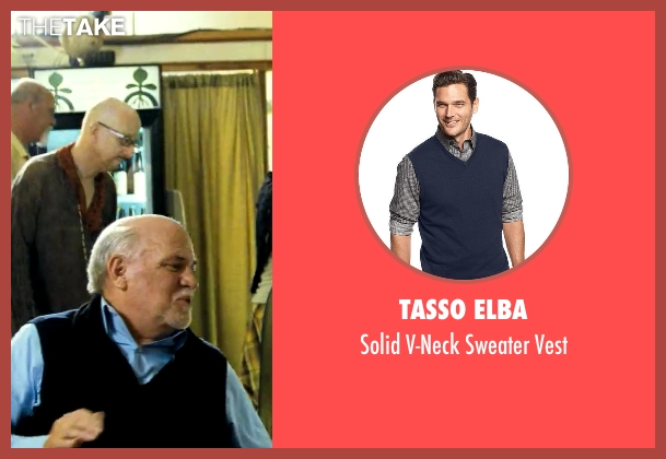 Tasso Elba blue vest from Savages seen with Unknown Actor (Unknown Character)