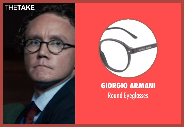 Giorgio Armani black eyeglasses from Southpaw seen with Unknown Actor (Unknown Character)